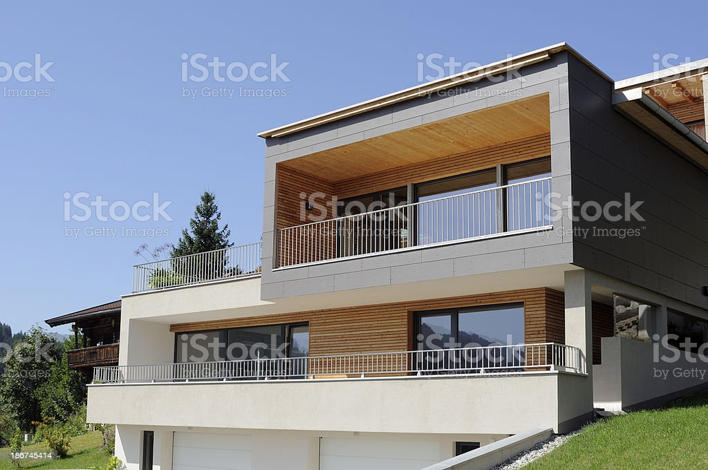 Cubistic luxury house stock photo