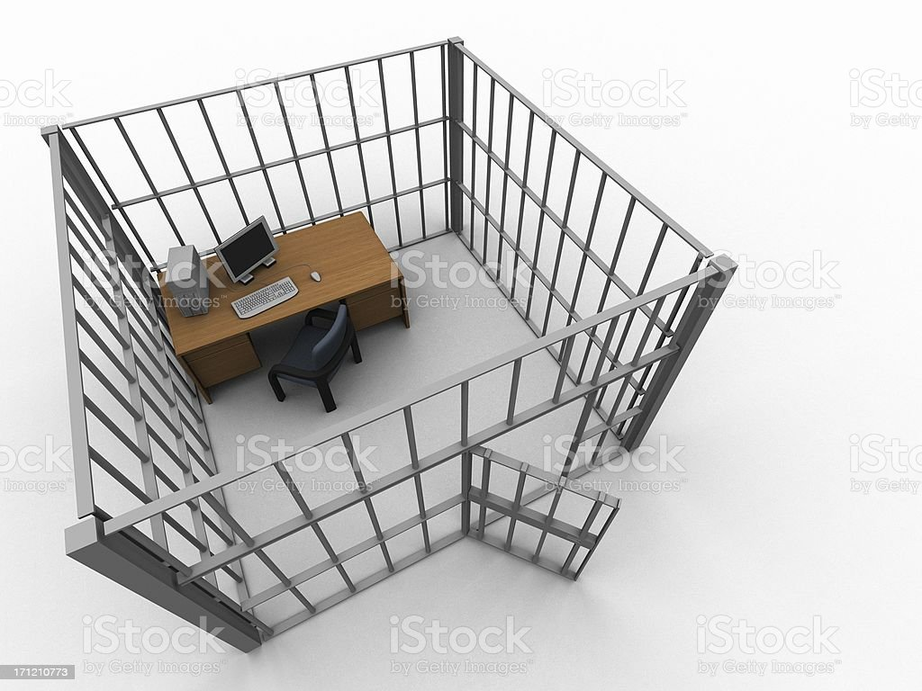 Cublicle Prison 1 royalty-free stock photo