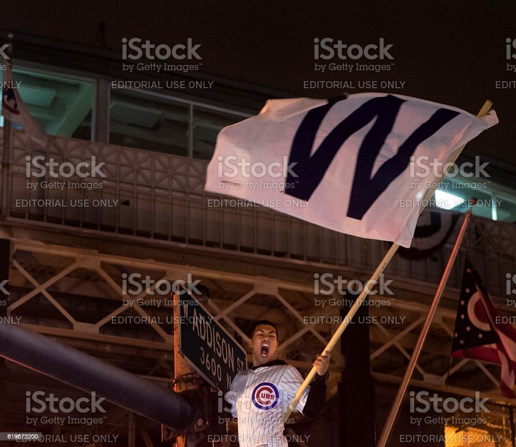 Cubs World Series Game 7 stock photo
