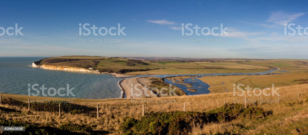 Cuckmere Panorama stock photo