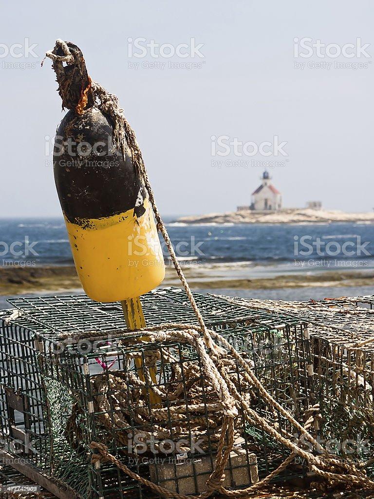 Cuckolds Island Lighthouse stock photo