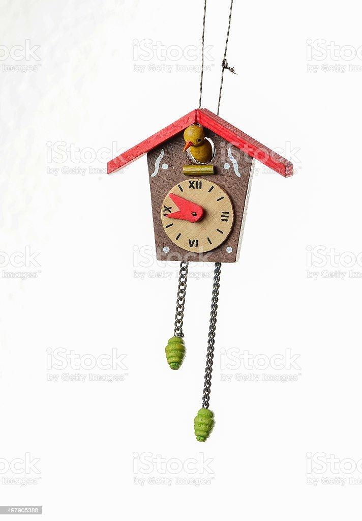 Cuckoo Clock Christmas Ornament stock photo