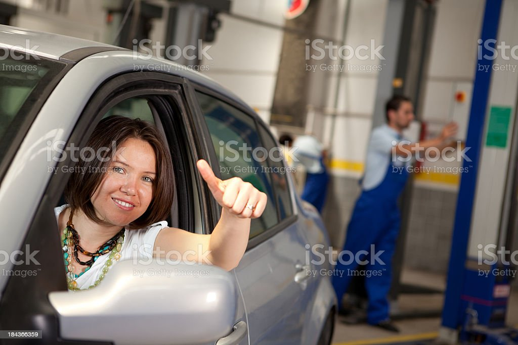 Cuctomer and Auto Service royalty-free stock photo