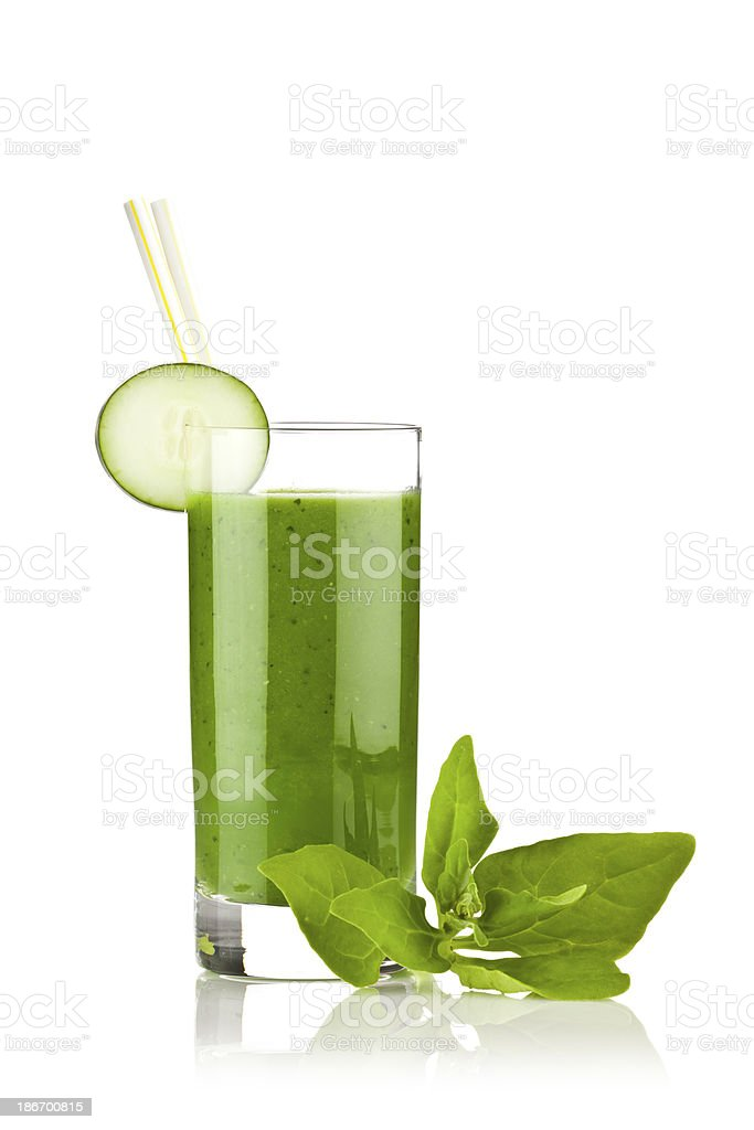 Cucumber and Spinach Juice royalty-free stock photo