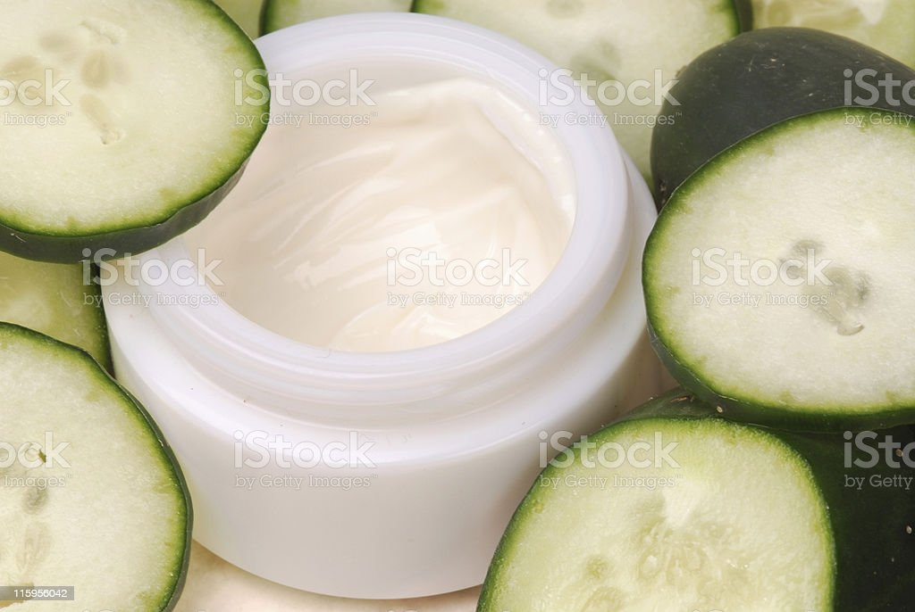 cucumber daycreme stock photo
