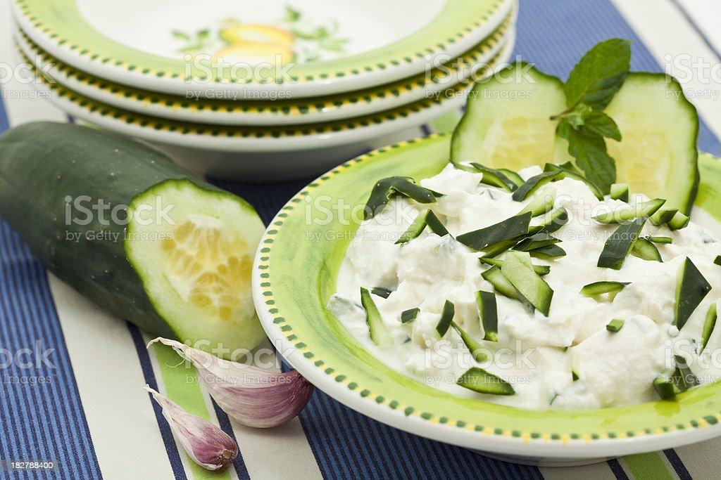 cucumber dip stock photo