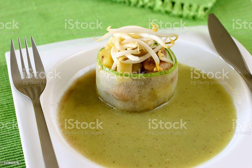 Cucumber dish royalty-free stock photo