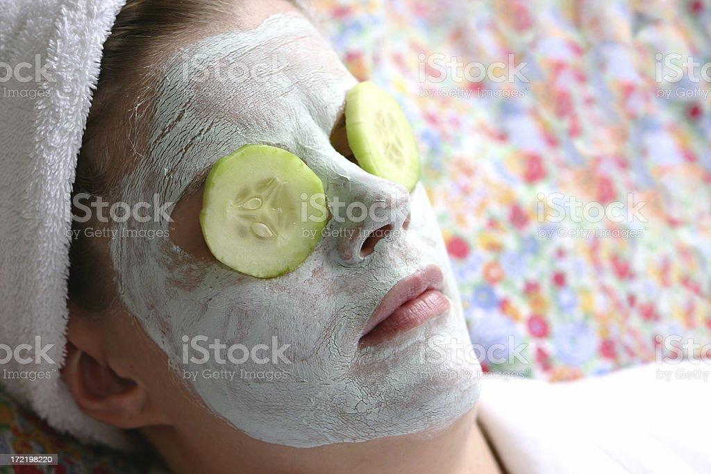 Cucumber Eyes royalty-free stock photo