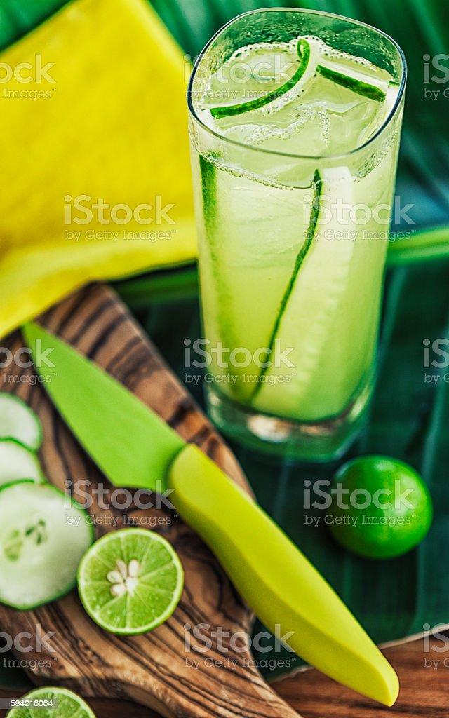 Cucumber Martini stock photo