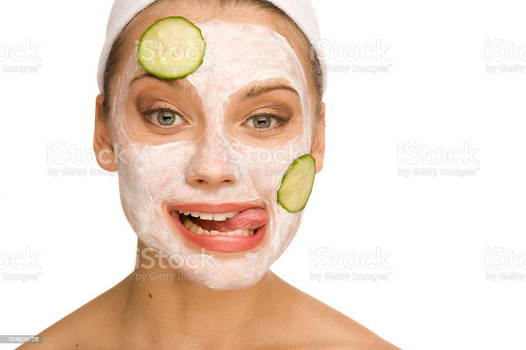 Cucumber mask royalty-free stock photo