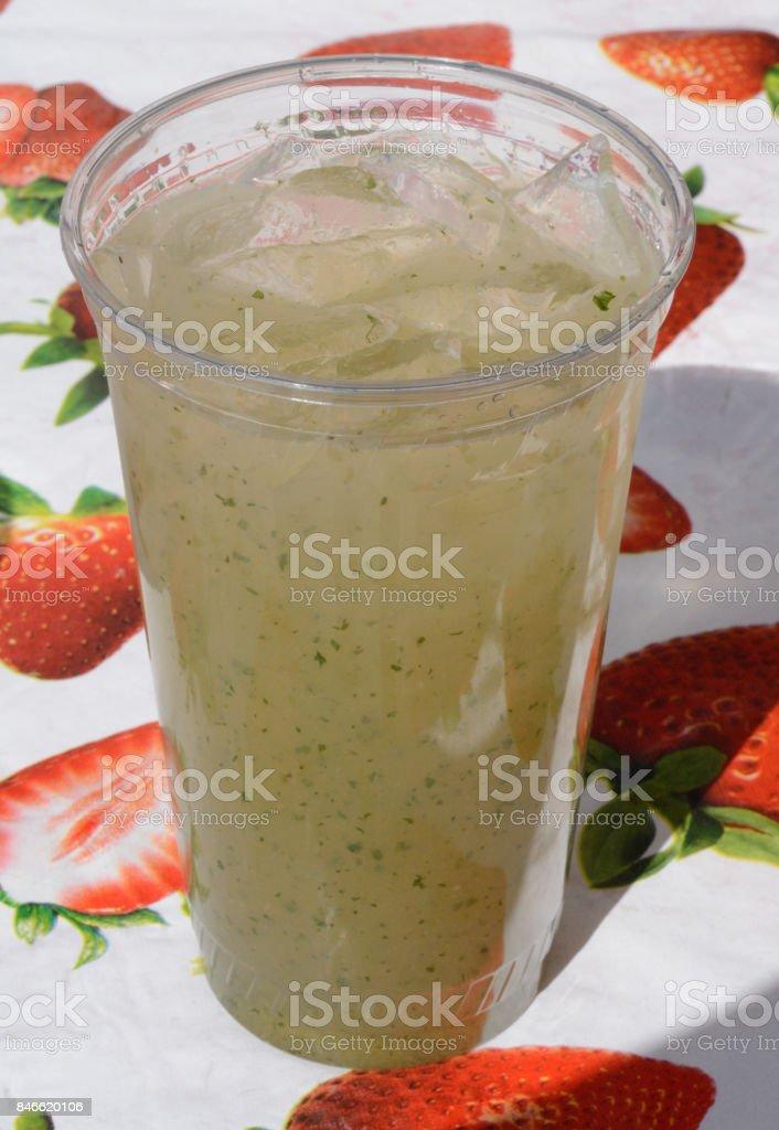 Cucumber mint drink stock photo