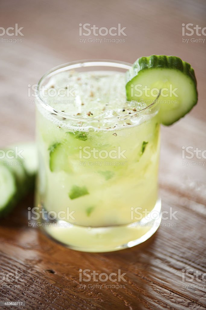 Cucumber Mojito Cocktail stock photo