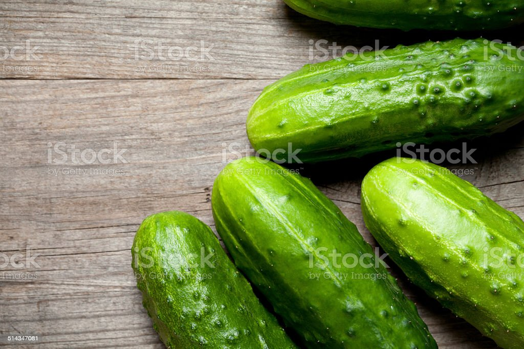 Cucumber on table stock photo