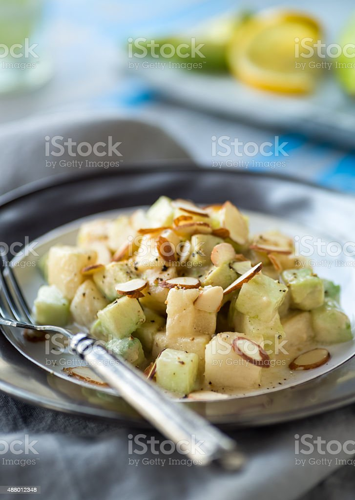 Cucumber Pear Salad stock photo
