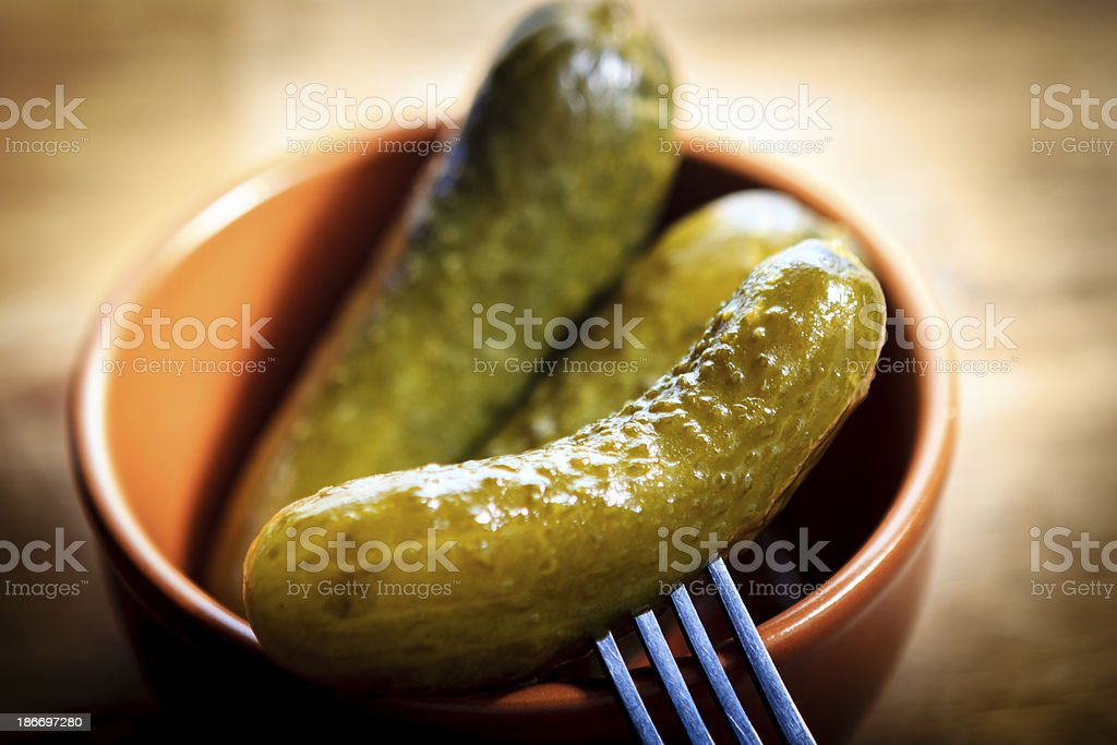 Cucumber Pickled stock photo