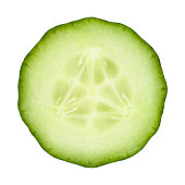 Cucumber portion on white