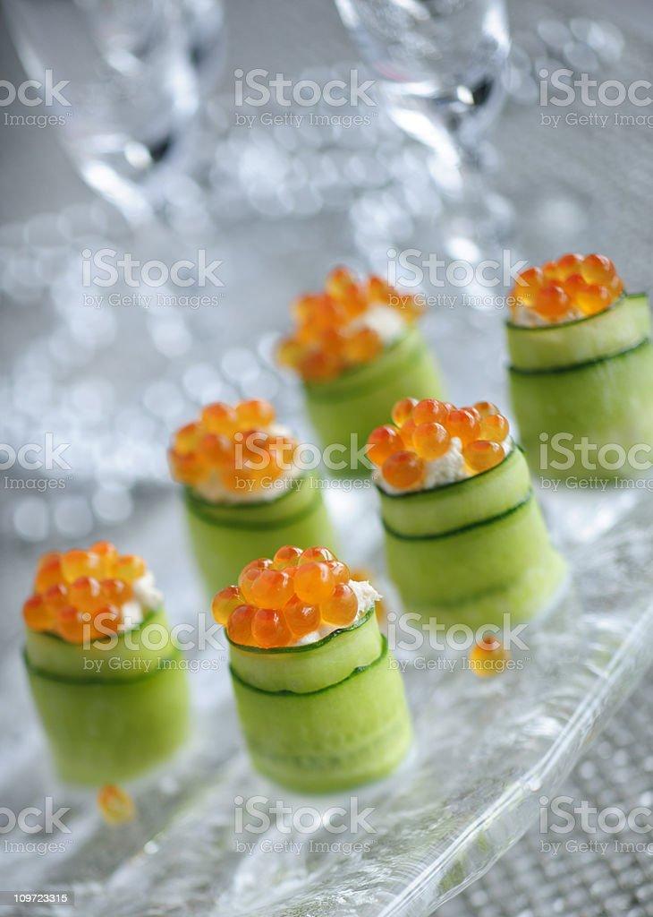 Cucumber Rolls stock photo