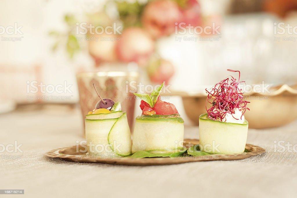cucumber rolls royalty-free stock photo