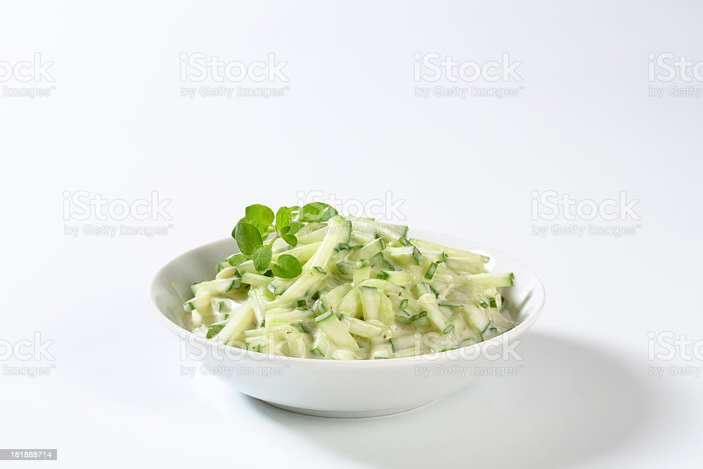 cucumber salad with dressing royalty-free stock photo