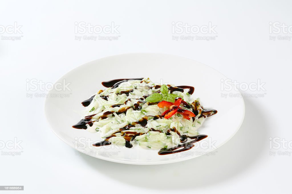 cucumber salad with dressings royalty-free stock photo