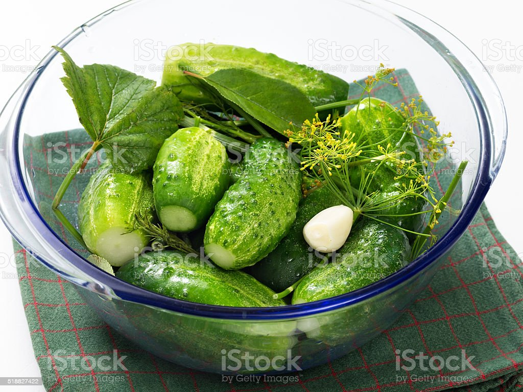 Cucumber salting royalty-free stock photo