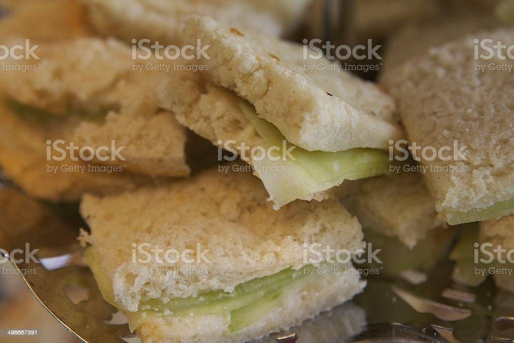 Cucumber Sandwich stock photo