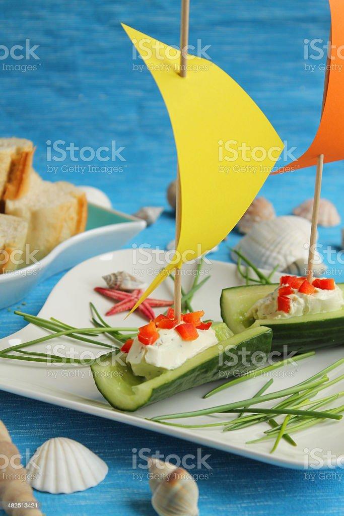 Cucumber Ships stock photo