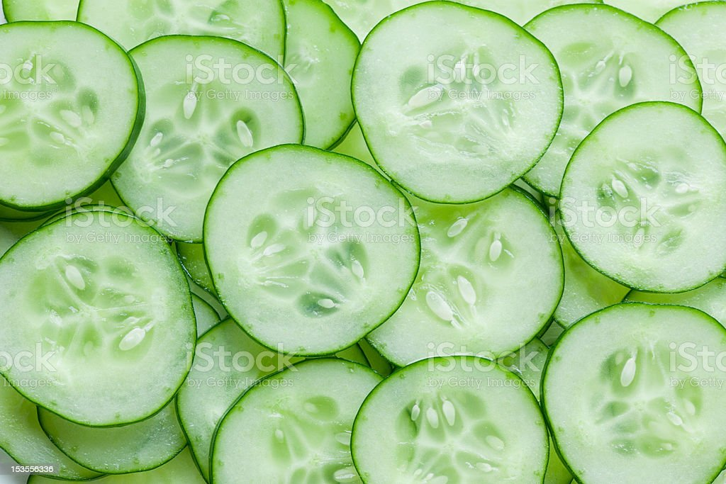 cucumber slice stock photo