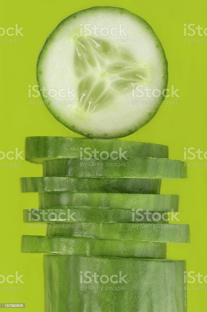 Cucumber slices royalty-free stock photo