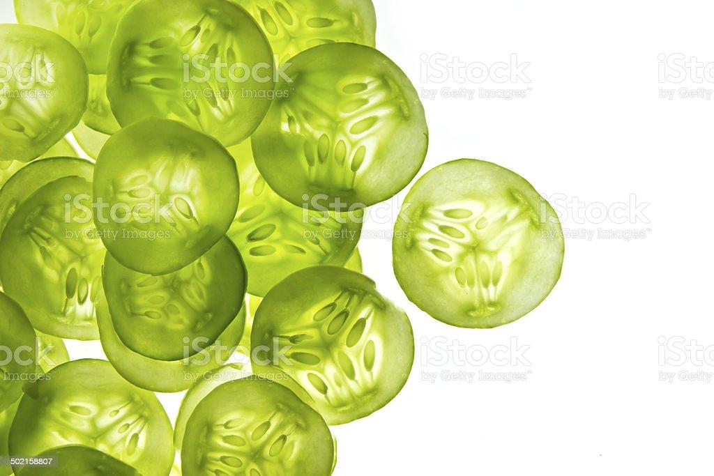 Cucumber slices stock photo