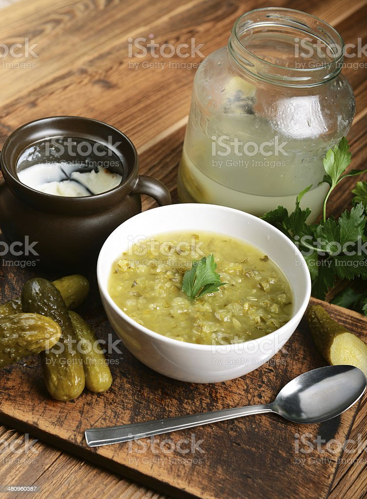 cucumber soup stock photo