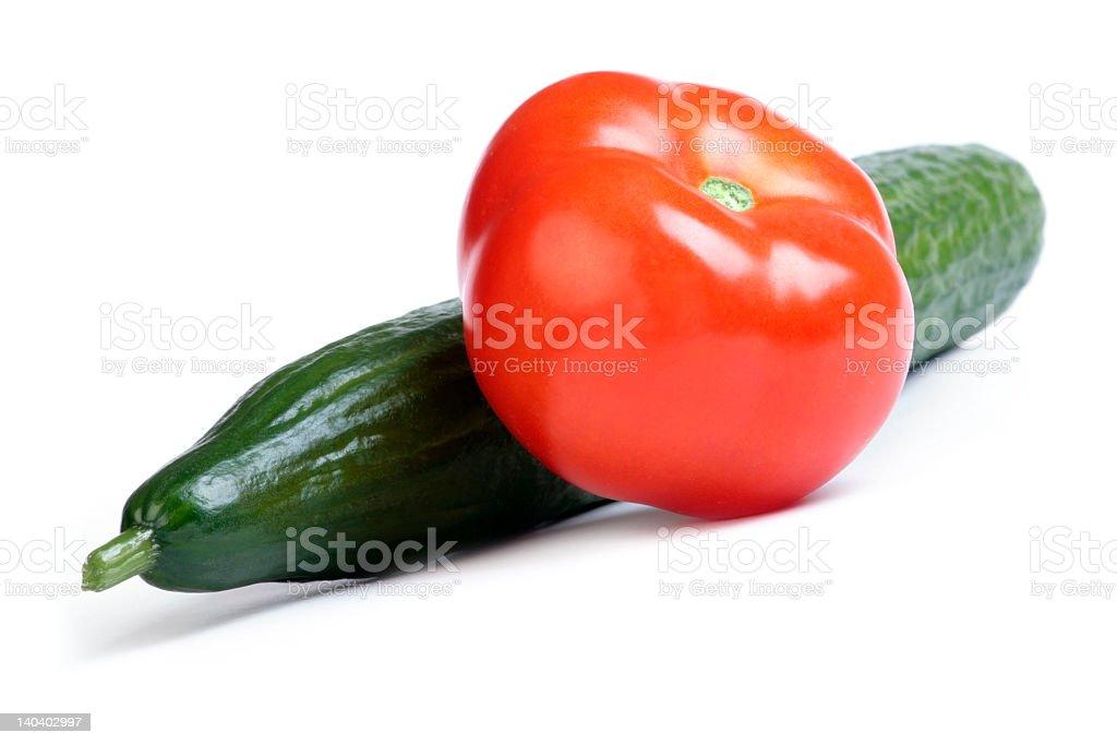 Cucumber & Tomato royalty-free stock photo