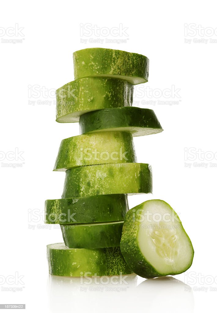Cucumber tower royalty-free stock photo