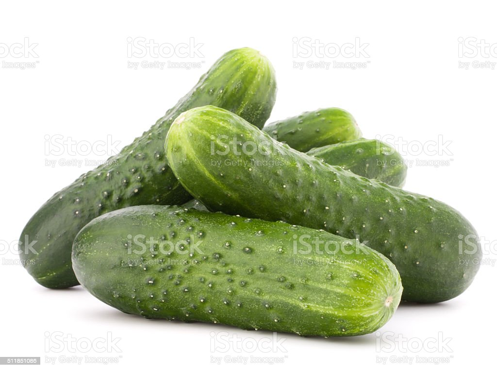 Cucumber vegetable  isolated on white background cutout stock photo
