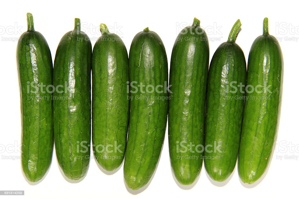 Cucumbers and gherkins stock photo