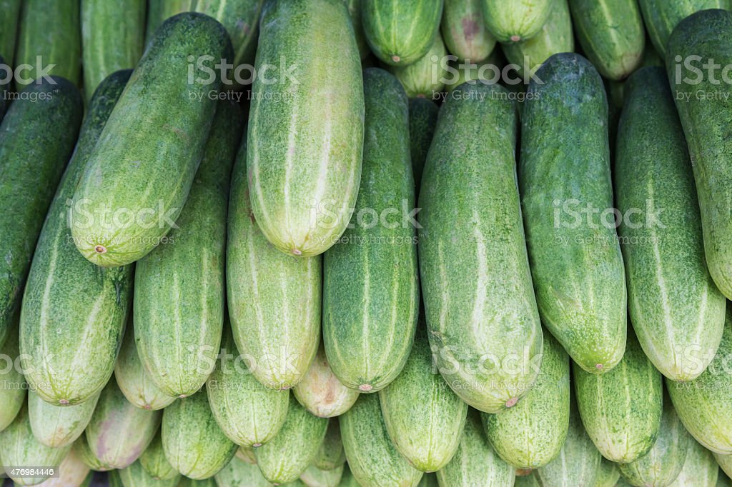 Cucumbers for sale at market, Thailand royalty-free stock photo