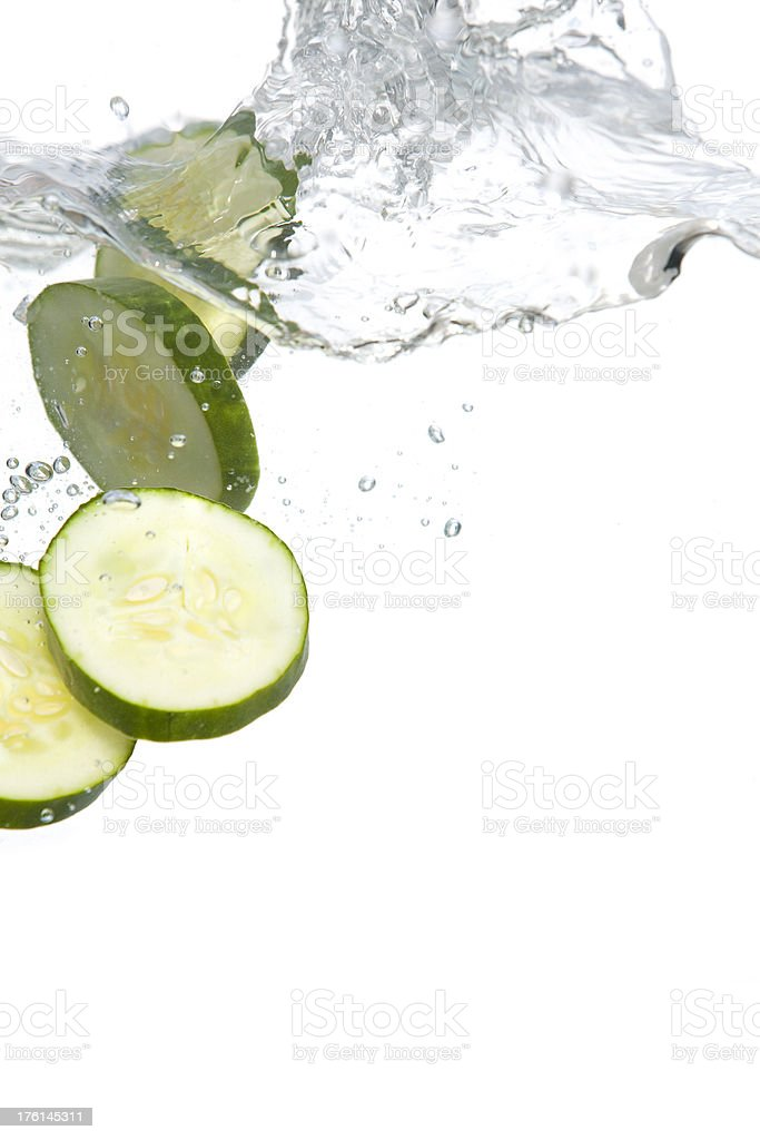 Cucumbers in water royalty-free stock photo