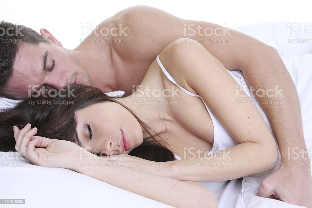 cuddling and rest stock photo