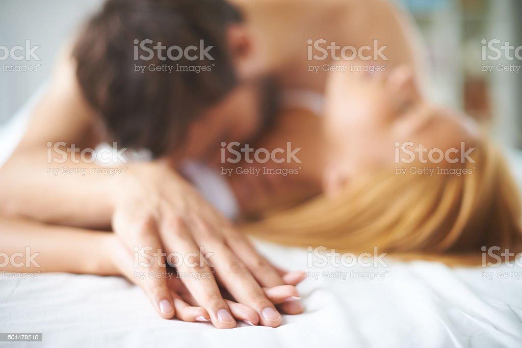 Cuddling stock photo