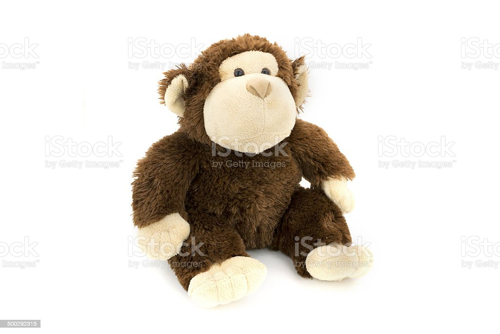 Cuddly Toy Monkey stock photo