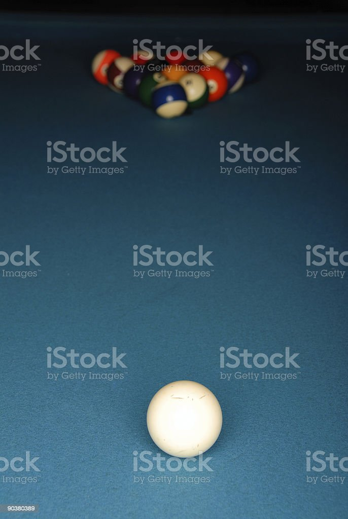 Cueball stock photo