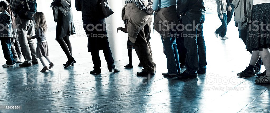 Cueing royalty-free stock photo