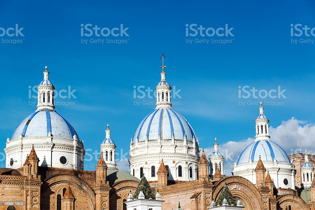 Cuenca Cathedral Domes stock photo
