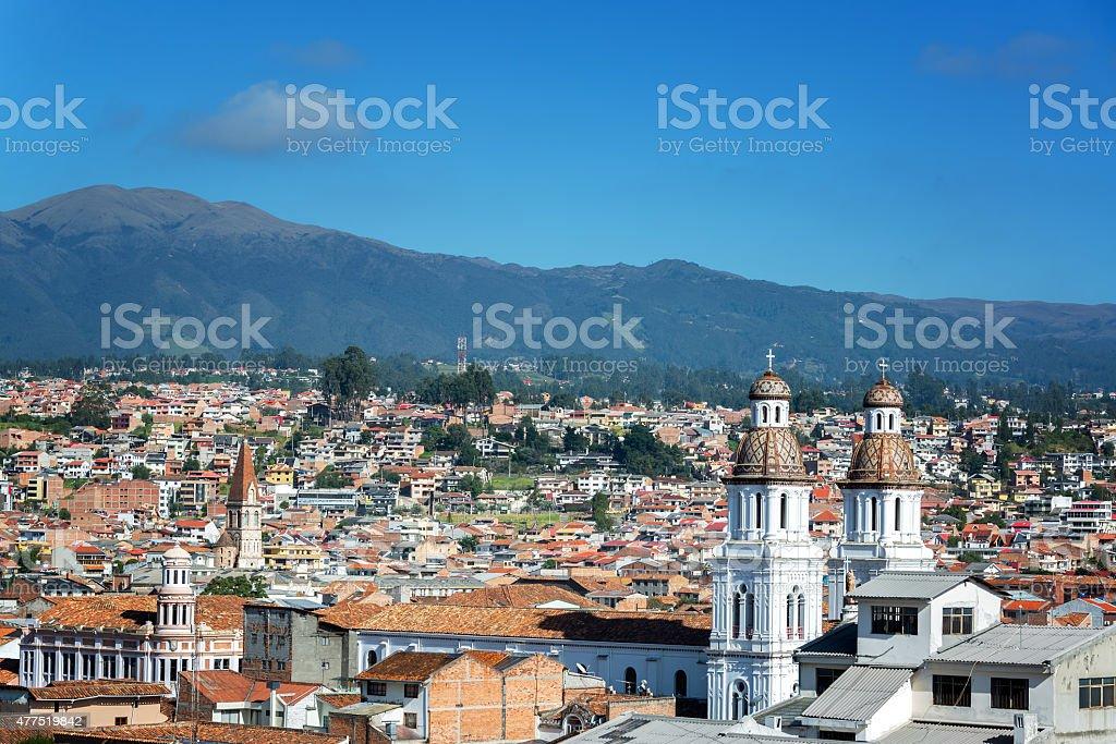 Cuenca, Ecuador Cityscape stock photo