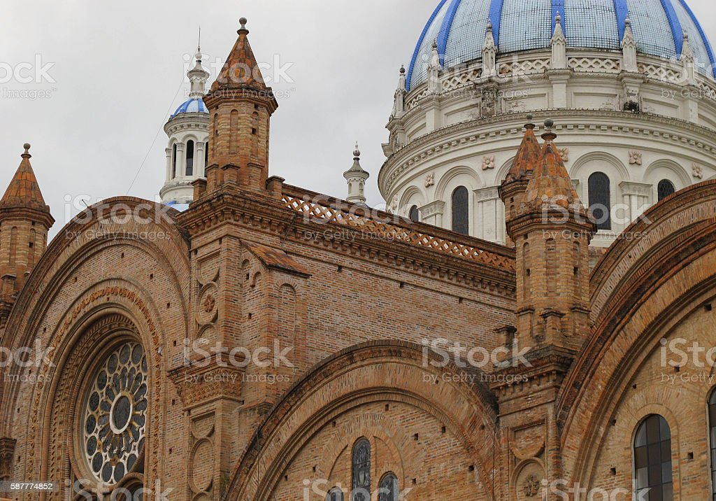 Cuenca's Cathedral stock photo