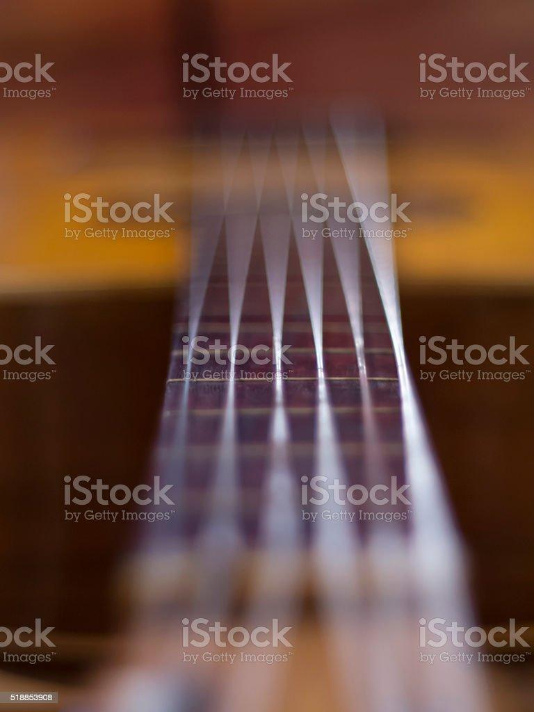Cuerdas de guitarra - Guitar strings stock photo