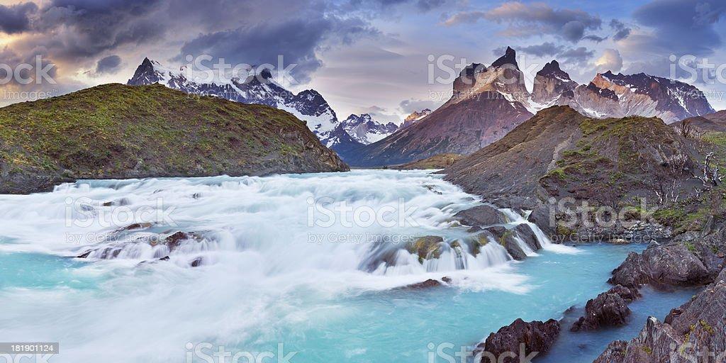 Cuernos del Paine, Torres del Paine, Patagonia, Chile stock photo