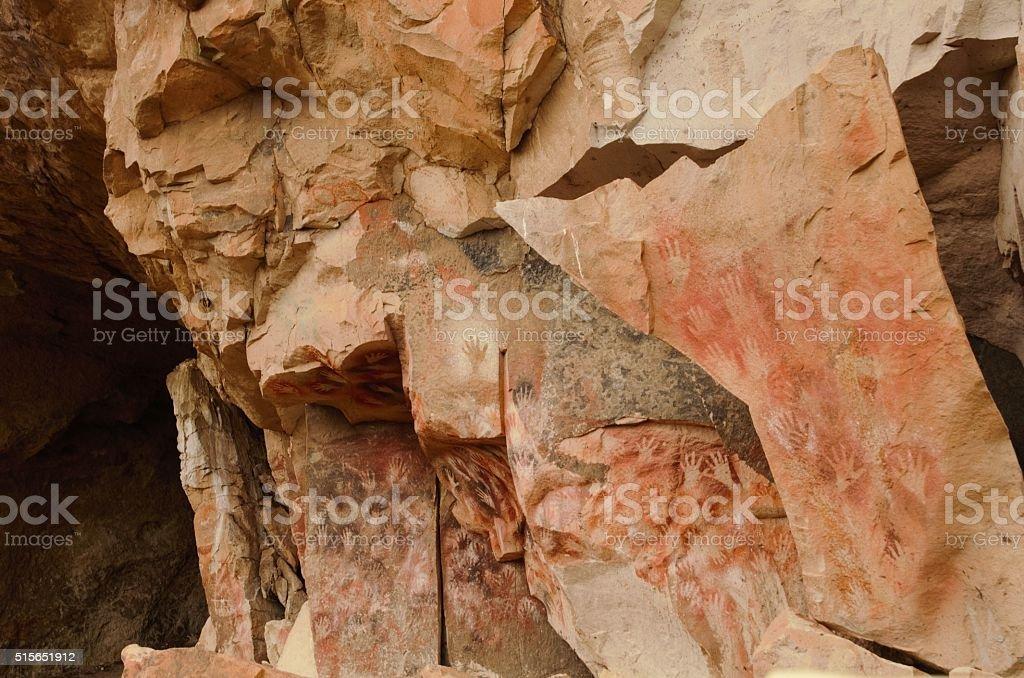 Cueva de las manos stock photo