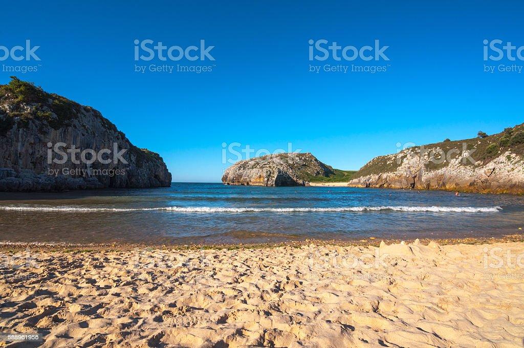 Cuevas de Mar beach stock photo