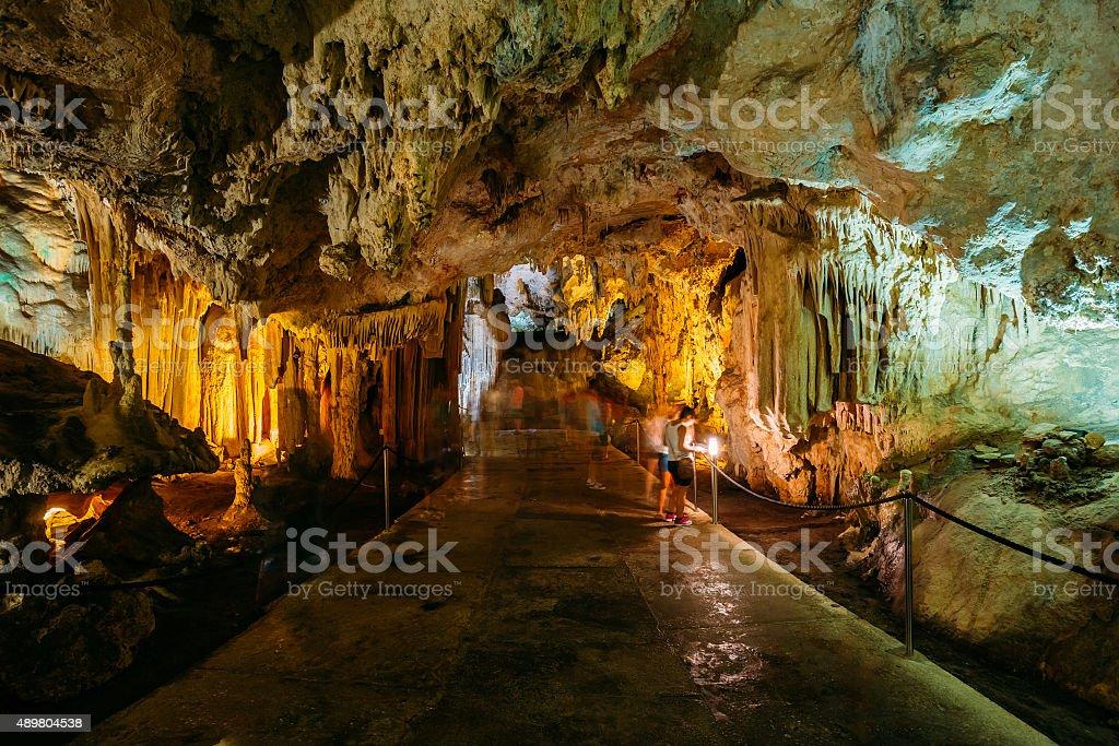 Cuevas de Nerja  - Caves of Nerja in Spain stock photo